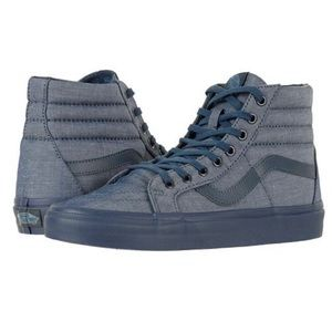 Vans sk8-hi mono chambray navy sneaker shoes